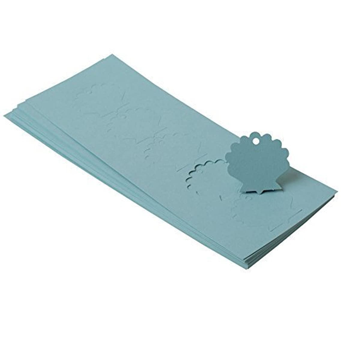 Paper Frenzy Aqua Shell Shaped Tags 1.875