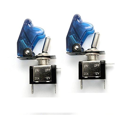 HOTSYSTEM 2x 12V 20A Auto KFZ Schalter SPST Wippschalter Ein/Ausschalter LED Anzeige Wechsel Switch Kippenschalter Blau