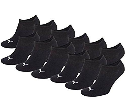 Puma - Fantasmini unisex, 12 pz., calzini sportivi, colore nero Nero 39-42