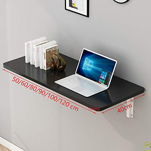 GSKD Wandmontage Computer Bureau Vouwen Wandmontage Druppelblad Tafel Keuken Eettafel Kinderen Tafel Voor Kleine Ruimte (Wit Zwart Geel) Grootte 50-120cm
