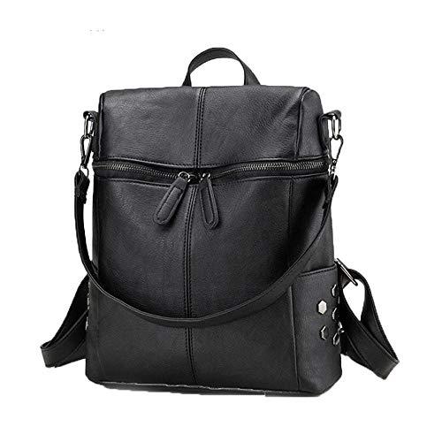 Fashion Waterproof Casual Women Backpack Purse Anti-Theft Light Weight School Shoulder Bag for Teenagers Girls-Black_30*26 * 11cm