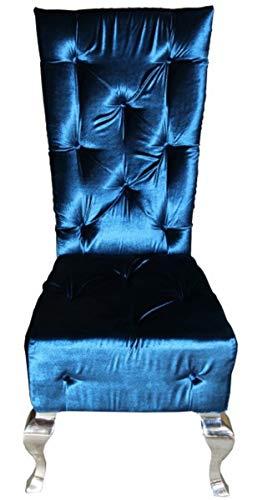 Casa Padrino Barock Esszimmer Stuhl Türkis/Silber - Designer Stuhl Qualität Hochlehnstuhl Hochlehner GH