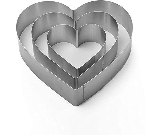 Depruies Dessertringe, B6 Tortenringe Edelstahl Hitzebeständig Perforiert Tortenring Mousse Form Boden Tower Pie Kuchenform Backen Dessert Ring Werkzeuge Dessertringe (Size : A)