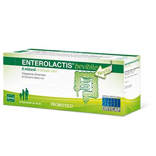Sofar Enterolactis Bevibele, Probiotico, Confezione da 6 Pezzi
