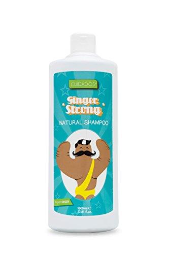 Verzorgende shampoo gember strong, stimuleert het haar. Anti-roos antioxidant - 1 liter