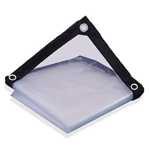 ER-JI Transparent waterproof tarpaulin, rainproof plastic soft curtain-suitable for balcony garden waterproofing,4 * 8m