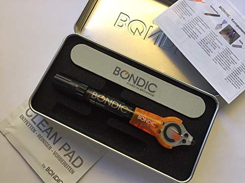 Bondic® Starter Set - DAS ORIGINAL seit 2010 - UV-Reparatursystem mit lichthärtendem Flüssigkunststoff Klebstoff - verbinden, fixieren, modellieren, reparieren