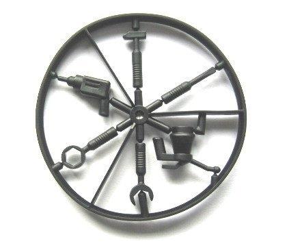 LEGO Star Wars - Werkzeugsatz für Minifiguren in schwarz - Schraubenzieher Hammer Ölkännchen Schlüssel Bohrmaschine