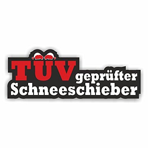 Foliezentrum 1x TÜV-geteste sneeuwschuiver 13,5 x 5 cm sticker Tuning 395 Shocker Auto JDM OEM Dub Decal Sticker Illest Dapper Oldschool Folie