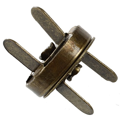 SODIAL (R) 10X Clasps Metal Magnetic Clasp Buckle New Bronze 14mm