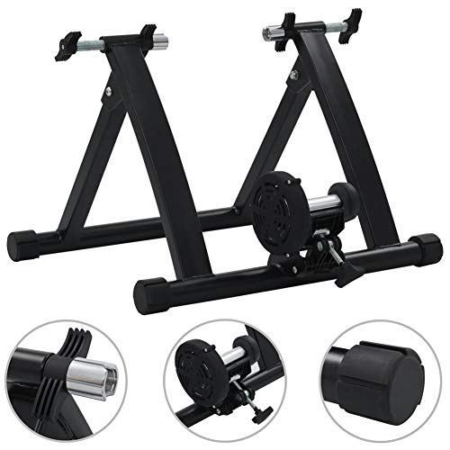 AYNEFY - Rodillo de bicicleta plegable para bicicleta de alta resistencia, magnético Turbo Trainer de liberación rápida, soporte para ruedas de 26 a 28 pulgadas, carga de 150 kg
