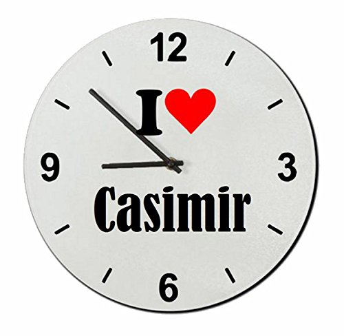 EXCLUSIVO: Vidrio de reloj 'I Love Casimir' una gran idea para un regalo para su pareja, colegas y muchos más! - reloj, Regaluhr, Regalo, Amo, Made in Germany.