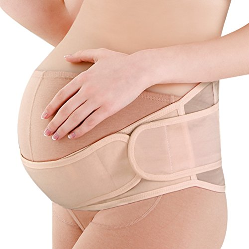 Dexinx Cinturón de Maternidad Cinturón de Soporte de Embarazo Correa de Vientre Respirable Ajustable Carpeta Abdominal Faja de Soporte Posterior y Pélvica Color de Piel
