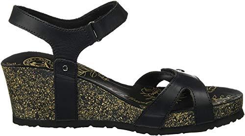Panama Jack Damen Julia Basics Offene Sandalen mit Keilabsatz, Schwarz (Black), 39 EU