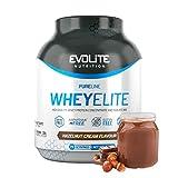 Evolite Nutrition WheyElite 2270g - Proteina Whey - Crear Batidos Para Adelgazar - Proteinas Para Aumentar Masa Muscular - Proteina Isolada (Crema de avellanas)