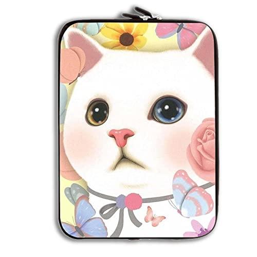 DA DONNA AntiurtoProtettivo involucro protettivo morbido silicone compatibile per Table Bag con White Big-eyed Cat