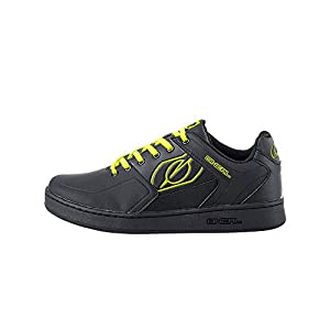 O'Neal Unisex-Adult Low-Top Pinned Cycling Flat Pedal Shoe Neon Yellow 11