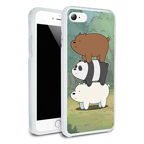 We Bare Bears Bear Stack Protective Slim Fit Hybrid Rubber Bumper Case for Apple iPhone 7 and 7 Plus