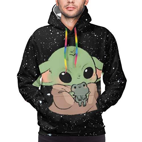 Star Wars Yoda Herren Hoodie mit Fronttasche Sweatshirts 3D Druck Kordelzug Pullover...