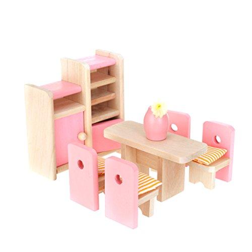 FlyRay 1/12 Dollhouse Un Conjunto Muebles De Madera