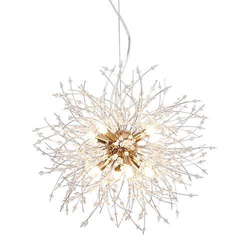 LynPon Moderno Sputnik Lámparas de araña dorado de cristal, lámpara de techo...