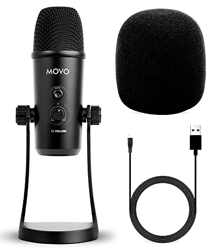 Movo UM700 - Micrófono USB para estudio de escritorio con estéreo,...