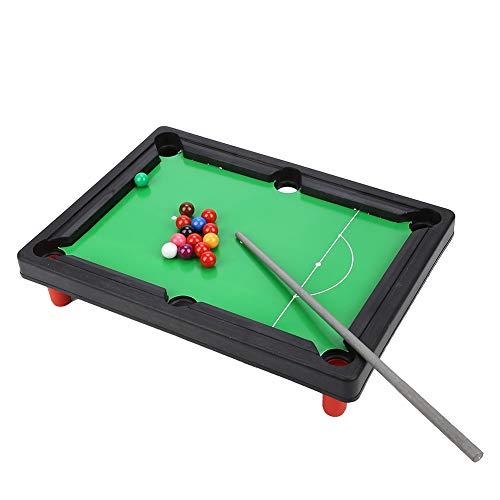 Mesa de Billar, Alta simulación Juego de Mini Juego de Billar portátil de 13x9.5x2.6 Pulgadas Mini Mesa de Billar Liviana, para Jugar en Familia Niños Adultos para Praty