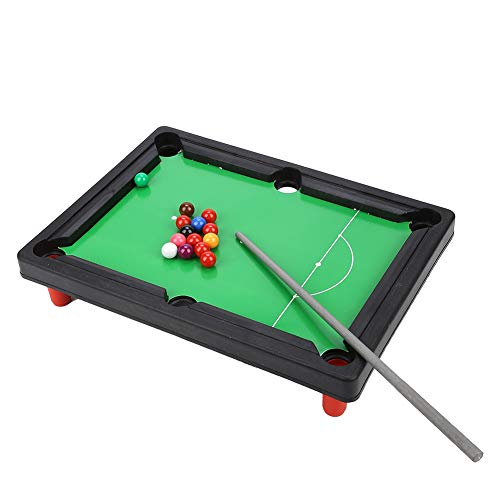 Plyisty Mini Pool Table Set, 13 * 9.5 * 2.6 Inch Portable Table Top Pool Table, Miniature Billiard Table Desktop Game for Kids and Adults