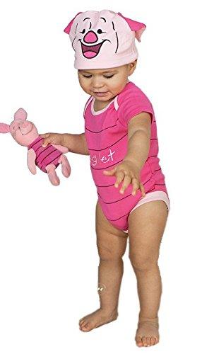 Costume/grenouillère bébé officielle Disney - Porcinet de Winnie l'ourson - Taille 12-18 mois