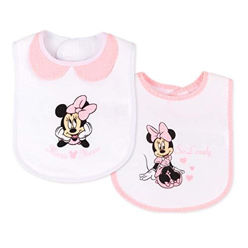 Lots De 2 Bavoirs Minnie Mouse, Fille, Bébé