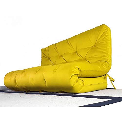 Colchão futon casal dobrável sofa cama amarelo
