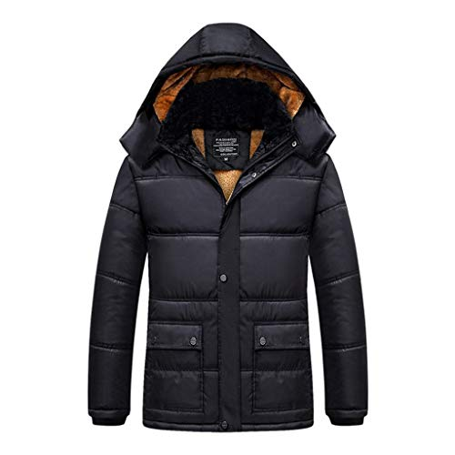 Affordable Pumsun Men's Winter Thickening Cotton Coat Cold-Proof Thermal Hooded Long Sleeve Jacket B...