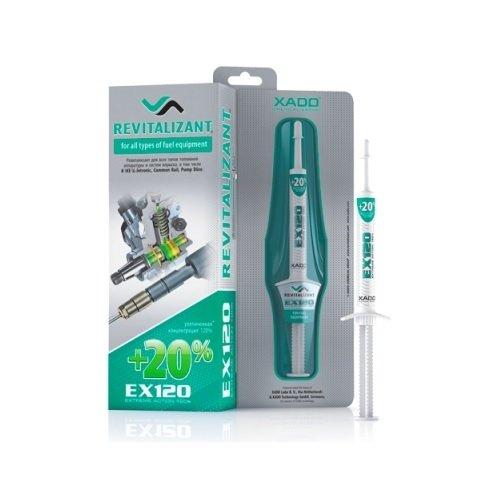 XADO aditivo EX120 con Revitalizant® para todos los sistemas de inyección de combustible. Aditivo concentrado que protege y reconstruye las superficies dañadas