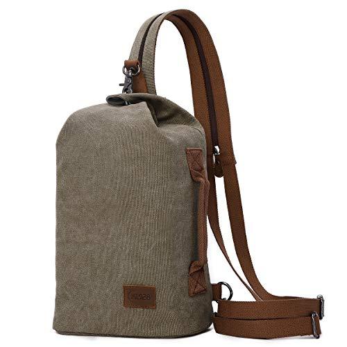 KL928 Zaino vintage in tela – grande stile casual, zaino da viaggio, escursionismo, zaino a spalla per uomo e donna