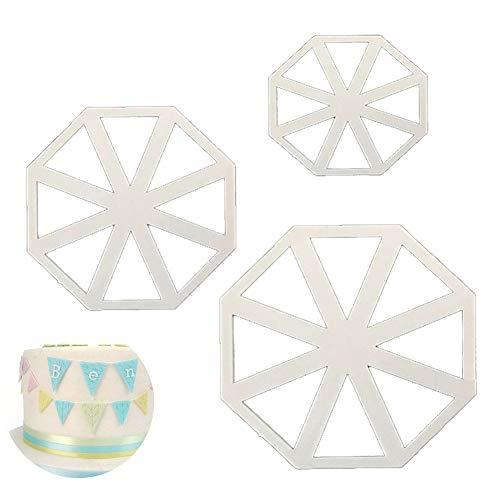 ouken 3PCS / Set Kunststoff-Wimpel-Kuchen-Form Schokoladen-Plätzchen-Schneider-Fondant Dekoration Werkzeuge Backen-Werkzeuge