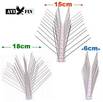 AVIFIN Antipalomas - Pinchos, Púas antiaves. Compre los Metros Exactos del Modelo Que Necesita. Combine Distintos Modelos en función de Sus Necesidades. (15, 10 Metros lineales)