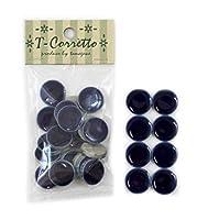 Tコレット19mm丸モザイクタイル レギュラーカラー 小袋20個入 【19R-09】コバルトブルー