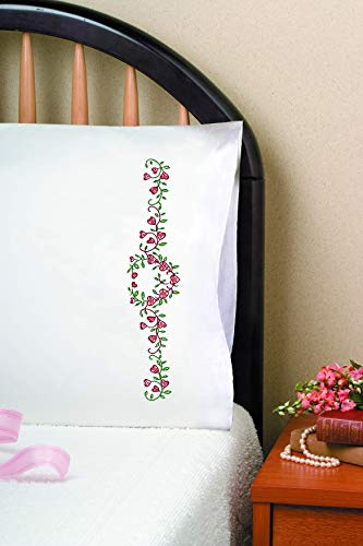 Tobin Stamped Pillowcases, Heart Vine, 20' x 30' Embroidery Kit