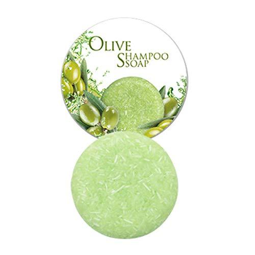 Styledress Barre de Shampooing Solid Shampoo pour Cheveux Shampoo Barre Végétalienne Plant Essence Shampoo pour cheveux gras cheveux secs et abîmés Aide à lutter contre les pellicules (Olives)