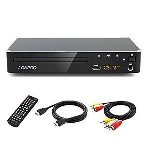 LP-099 Reproductor de DVD, Compact DVD Player (Full HD,HDMI, USB,Divx,MP3 Incluido Cable HDMI& AV &Control Remoto