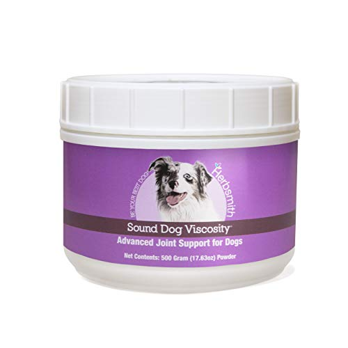 Herbsmith Sound Dog Viscosity – Advanced Joint Support for Dogs – Veterinarian Recommended Glucosamine for Dogs, Hyaluronic Acid, Chondroitin, MSM – Natural Arthritis Pain Relief – 500g Powder
