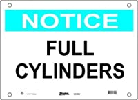 """Master Lock S21502 20"""" Width x 14"""" Height Polypropylene, Blue and Black on White Safety Sign, Header """"Notice"""", Legend """"Full Cylinders"""""""