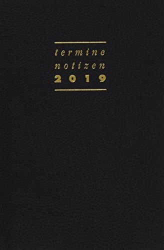 Terminer A6, Leder schwarz - Kalender 2019