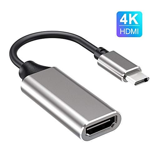 Adaptador USB C a HDMI, Adaptador HDMI Tipo C a 4K, (Compatible con Thunderbolt 3), Compatible con MacBook Pro 2018/2017/2016, MacBook Air, Samsung, Pad Pro,Huawei Mate 20 y más