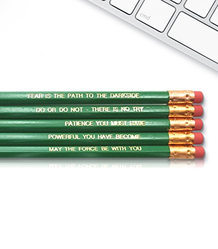 Yoda Star Wars The Jedi - Inspirational Pencils Engraved With Funny And Motivational Sayings For School And The Office