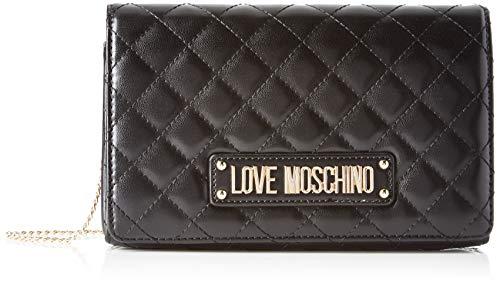 Love Moschino Unisex-Erwachsene Jc4122pp18la0000 Kuriertasche, Schwarz (Nero), 14x6x22 centimeters