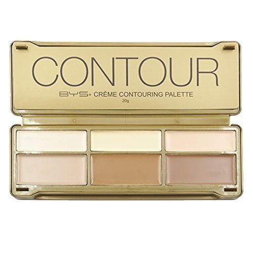 BYS Cream Contouring Palette Tin Collection with Mirror