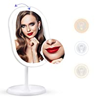 liaboe Espejo de Maquillaje con luz led de Ca