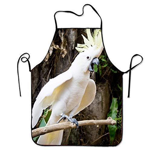 Niet van toepassing Schort Papegaai Wit Twitter Bos Dierlijke Vogel En Duurzaam Koken Keuken Schorten Comfortabele Print Mode Mooie Zachte Bib Schort Keuken Unisex