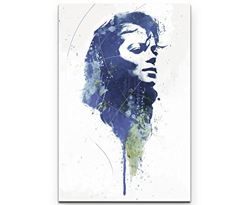 Paul Sinus Art Michael Jackson VII 90x60cm auf Leinwand gespannt fertig zum aufhängen